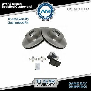 Nakamoto Front Ceramic Disc Brake Pad Rotor Kit Set For Mercedes Benz New