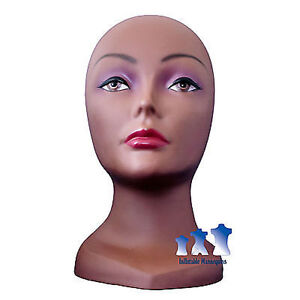 Female Mannequin Head With Face Light Skin tone