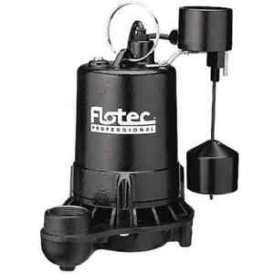 Flotec E50vlt 1 2 Hp Cast Iron High output Sump Pump W Vertical Float Switch