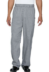 Houndstooth Dickies Unisex Elastic Waist Cargo Pocket Chef Pants Dc12 Hdth