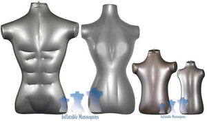 Inflatable Mannequin Standard Family Package Silver