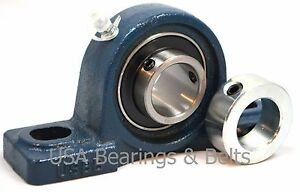1 1 2 Ucp208 24 Bearings Solid Foot Plus Solid Collars P208 6 Pieces 2v36