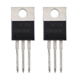 Us Stock 2pcs Fdp2532 To 220 N channel Power Trench Mosfet