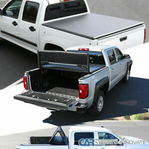 For 07 19 Silverado Sierra 1500 Crew Cab Pickup 5 8ft Bed Trifold Tonneau Cover