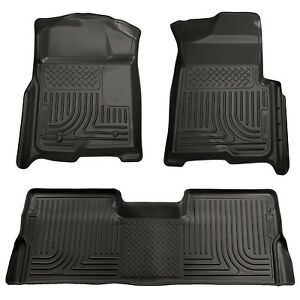 Husky Liners 98331 Weatherbeater Floor Mats Black 2009 2014 Ford F150 Supercrew