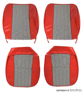 Red Front Seat Cover Set German Vinyl Porsche 912 Coupe 1967