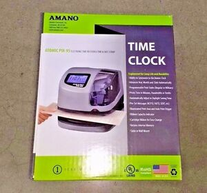 Amano Atomic Employee Time Clock Electronic Time Recorder Date Stamp Pix 95