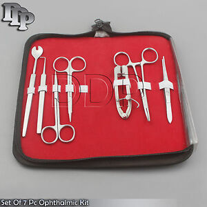 Set Of 7 Pc Minor Micro Surgery Ophthalmic Instrument Kit Ds 911