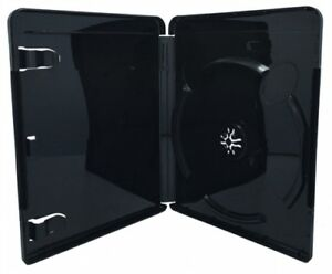 100 Premium Glossy Black Blu ray Single Dvd Cases 14mm