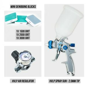 Hvlp Spray Gun 2 0mm Tip Hvlp Air Regulator Mini Denibbing Blocks Package