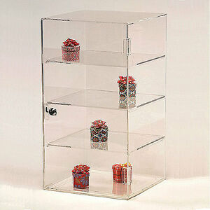 Acrylic Countertop Showcase Square 4 Shelves 10 X 10 X 18 1 2 h