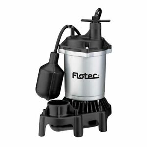 Flotec Fpzs50t 1 2 Hp Thermoplastic Submersible Sump Pump W Piggyback Teth