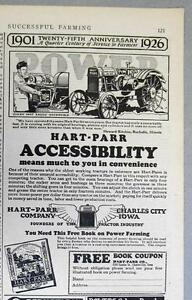 SCARE Orignal Hart-Parr Tractor Ad Celebrating 25th Anniversary of Farm Service