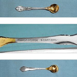 Gorham Sterling Gold Wash Individual Salt Spoon S King Edward No Mono