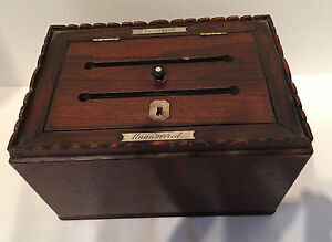 Antique English Answered Unanswered Box Circa 1830