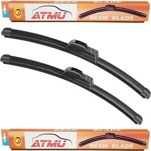 06 12 Ford Fusion 24 19 Windshield Wiper Blades Set Frameless All Season