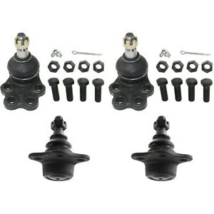 Front Upper Lower Ball Joints Kit Set Of 4 For 00 01 Dodge Ram 1500 2wd