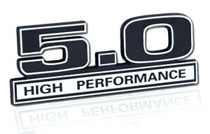 Ford Mustang Black Chrome 5 0 Liter High Performance 3d Stick On Embossed Emblem
