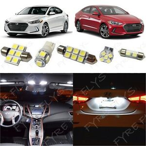 8x White Led Light Interior Package Kit For 2017 2019 Hyundai Elantra Tool Ye3w
