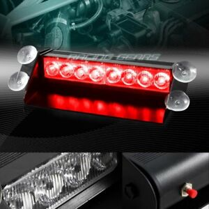 8 Led Red Emergency Car Truck Dashboard Warning Flash Strobe Light Universal Fits More Than One Vehicle