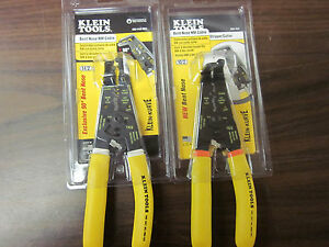 2 New Klein Tools Bent Nose Nm Cable Stripper Cutter K90 10 2 And 14 2 Sen