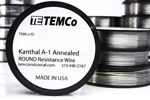 Temco Kanthal A1 Wire 25 Gauge 1 5 Lb Resistance Awg A 1 Ga