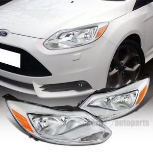 For 2012 2014 Ford Focus Headlights Head Lamps Left right Pair