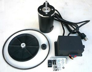 1 3 Hp Variable Speed Dc Drive Kit Motor Control Pulleys Belt 250 900 Rpm Sale