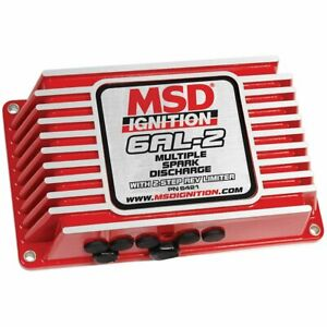 Msd 6421 Ignition Box Msd 6al 2 Digital Cd With Rev Limiter Red Ea