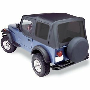 Bestop Soft Top New Black Jeep Wrangler 1988 1995 79123 01