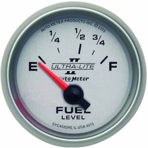 Autometer Fuel Gauge Gas New 4915
