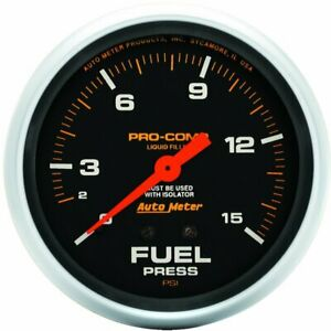 Autometer Fuel Pressure Gauge Gas New 5413