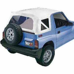 Rugged Ridge Soft Top New White Geo Tracker Suzuki Sidekick 1995 1998 53723 52
