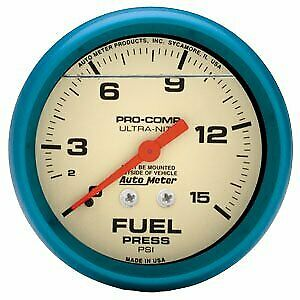 Autometer Fuel Pressure Gauge Gas New 4211