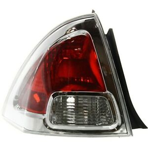 Halogen Tail Light For 2006 2009 Ford Fusion Left Clear Red Lens Capa