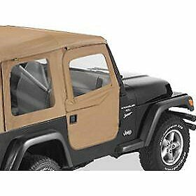 Bestop Set Of 2 Half Doors Front New For Jeep Wrangler 1997 2006 Pair 51789 37