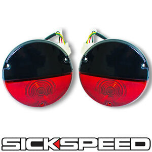 Black Red Vintage Taillight Kit For Sickspeed Rear Finish Panel Conversion