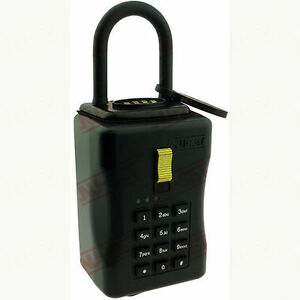 Electronic Key Storage Lock Box Combination Lockbox With Downloadable Access Log