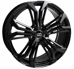 18x8 Enkei Rims Vortex5 5x108 40 Black Rims Fits Focus Svt Escort