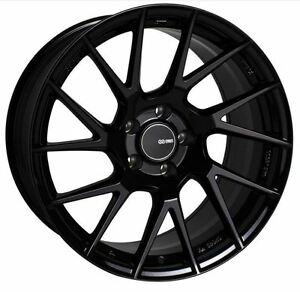 18x8 5 Enkei Rims Tm7 5x114 3 25 Black Rims Fits Veloster Mazda Speed 3