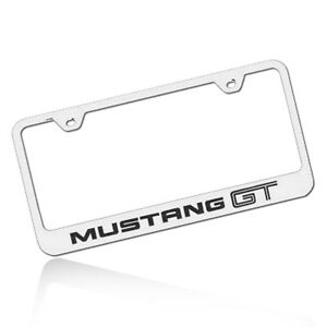 Ford Mustang Gt Chrome Stainless Steel License Plate Frame