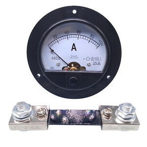 Us Stock Dc 0 100a Analog Amp Current Pointer Needle Panel Meter Ammeter Shunt