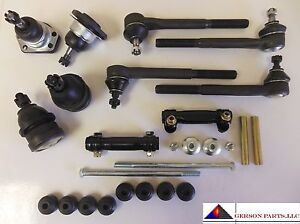 Fit 2000 2003 Chevrolet S10 2wd Ball Joints Tie Rods Adj sleeves Sway Bar Links