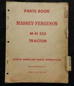 1958 61 Massey Harris Ferguson M h 555 Mh555 Tractor Parts Catalog Manual Good 1