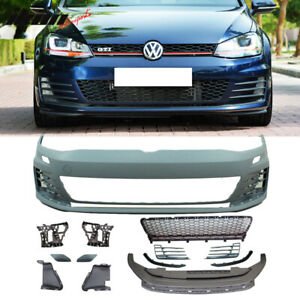 Fits 15 17 Vw Golf 7 Mk7 Gti Type Front Bumper Cover Grille No Pdc