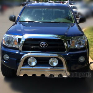 Fit 2005 2015 Tacoma 3 Stainless Steel Chrome Bumper Grill Push Guard Bull Bar