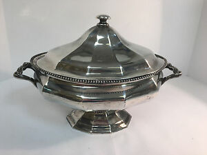 Antique Reed And Barton Silver Lidded Tureen Christmas 1897