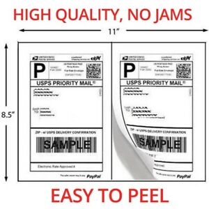 4000 Shipping Labels Half Sheets 2 Per Sheet 8 5 X 11 Self Adhesive