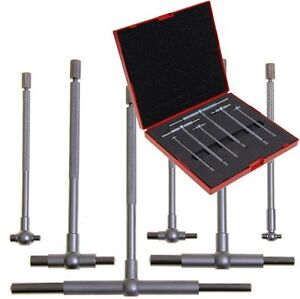 Telescoping T Bore Gauge 6 Pc Cylinder Hole Smooth Gage Professional Set W case