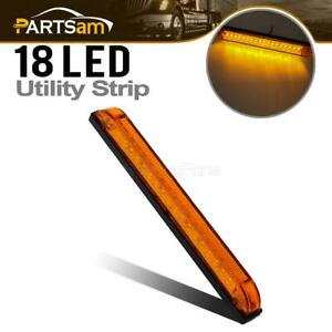 Led Amber Utility Strip Light Bar 8 Boat Lights Decoration 18 Diodes Universal